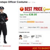 Un costume d'officier de la Gestapo nazi vendu sur le site Escapade (Capture d'écran)