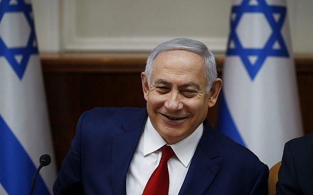 Le Premier ministre Benjamin Netanyahu préside la réunion hebdomadaire du cabinet à Jérusalem, le 23 décembre 2018. (Ronen Zvulun/Pool via AP, fichier)