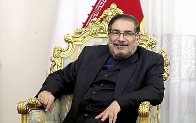 Ali Shamkhani, secrétaire du Conseil suprême de la sécurité nationale, à Téhéran, le 17 janvier 2017. (Crédit : Ebrahim Noroozi/AP)
