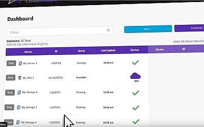 Illustration du logiciel développé par la startup israélienne CloudEndure en action (Capture d'écran YouTube)