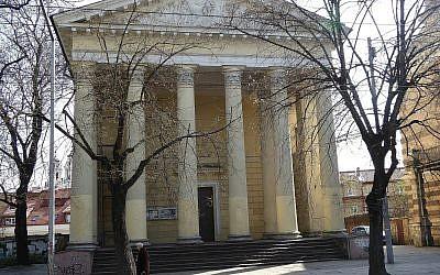 L'Église évangélique réformée, Vilnius, Lituanie, en avril 2015. (Crédit : Ardfern/Wikipedia CC-BY-SA-3.0)