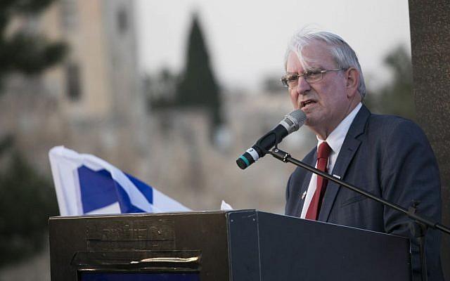 Marc Zell, le président de Republicans Overseas Israel, lors d'un événement à Jérusalem, le 26 octobre 2016. (Yonatan Sindel/Flash90)