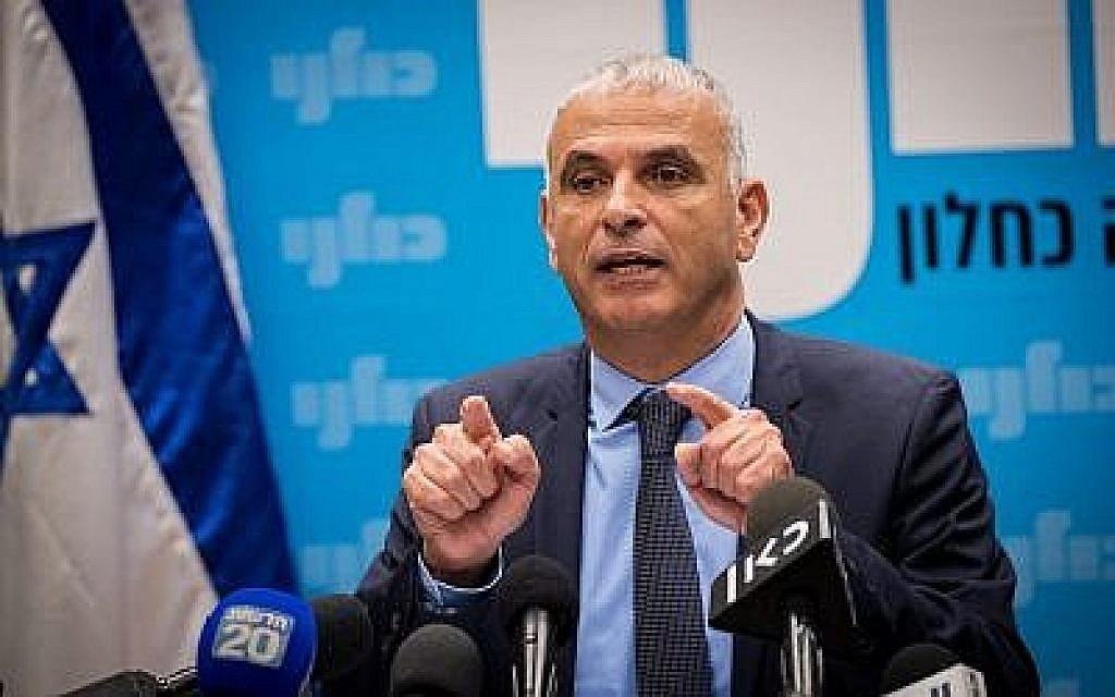 Moshe Kahlon dirige une réunion de faction au Parlement israélien, le 24 décembre 2018. (Yonatan Sindel/Flash90)
