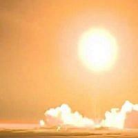 Capture d'écran d'une vidéo du lancement d'un satellite iranien, le 15 janvier 2019. (Twitter)