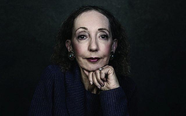 L'auteure célèbre Joyce Carol Oates est lauréate du prix de Jérusalem 2019, qu'elle recevra lors du forum international du livre de Jérusalem au mois de mai (Autorisation : Dustin Cohen)