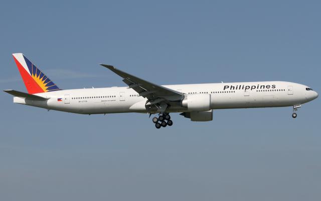 Un Boeing 777-300 de la compagnie Philippine Airlines. (Konstantin von Wedelstaedt, via Wikimedia Commons CC-BY)