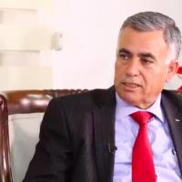 Le ministre des Collectivités locales de l'AP, Hussein al-Araj (Crédit : capture écran de la chaîne An-Najah)