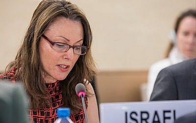 L'ambassadrice israélienne aux agences de l'ONU à Genève Aviva Raz-Schechter (Crédit : Elma Okic/UN Photo)