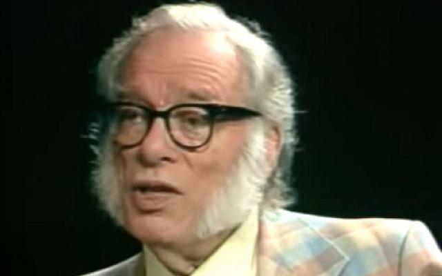 Le scientifique et auteur de science-fiction célèbre Isaac Asimov lors d'une interview télévisée en 1988. (capture d'écran YouTube)