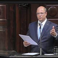 Wilson Witzel est nommé gouverneur de Rio de Janeiro, le 2 janvier 2019. (Capture d'écran : YouTube)
