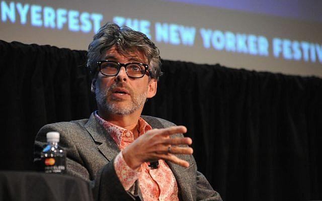 L'écrivain Michael Chabon prenant la parole au New Yorker Festival 2014 le 10 octobre 2014 à New York. (Photo par Andrew Toth/Getty Images pour le New Yorker Festival via JTA)