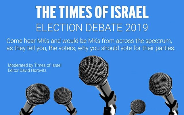 Le débat électoral du Times of Israel