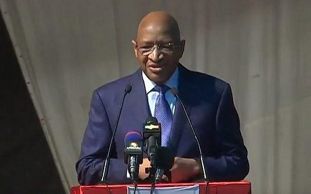 Le Premier ministre du Mali Soumeylou Boubeye Maiga lors d'un discours au congrès à Bamako, au Mali, le 29 décembre 2018 (Capture d'écran : Youtube)
