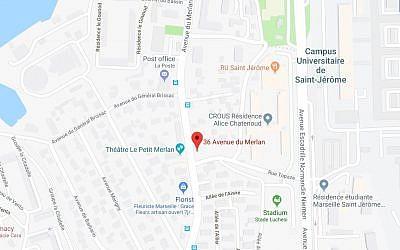 Quartier de Marseille où exerce le docteur Samuel Ourdinèche, victime d'une violente agression début décembre 2018 (capture d'écran Google Map)