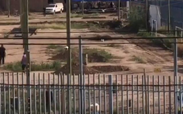 Des enquêteurs se rendent au domicile de Gil Pereg à Mendoza, en Argentine, le 26 janvier 2019. (Capture d'écran : YouTube)