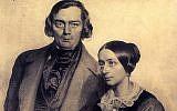 Robert et Clara Schumann, un couple marié de compositeurs dont la relation a été éprouvée par des troubles mentaux et leur amour mutuel de Johannes Brahms, sont le sujet de 'Love Letters,' (Lettres d'amour), un concert de la Saint-Valentin prévu le 14 février 2019 à l'opéra de Tel Aviv (Crédit : avec l'autorisation de l'opéra)