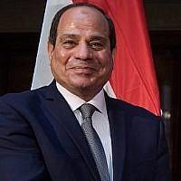 Le président égyptien Abdel Fattah el-Sissi lors de la 55ème conférence sur la sécurité de Munich, dans le sud de l'Allemagne, le 16 février 2019 (Crédit : Sven Hoppe / DPA / AFP)