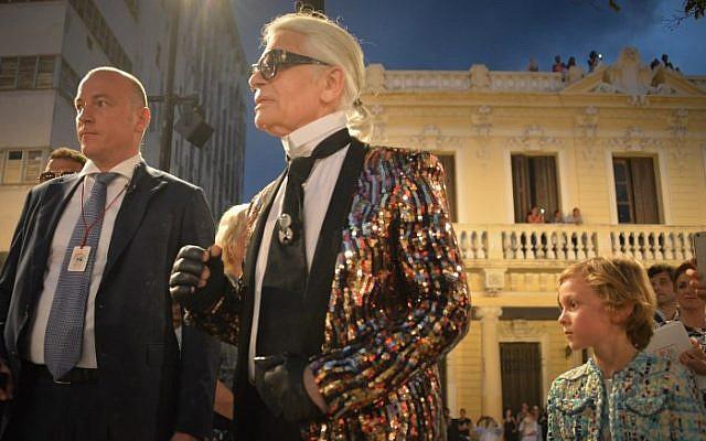 Karl Lagerfeld à la Havane, Cuba, en mai 2016. (Crédit: ADALBERTO ROQUE / AFP)