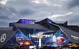 Le stade Mercedes-Benz qui accueille la 53e finale du Super Bowl opposant les Los Angeles Rams aux New England Patriots à Atlanta, 2 février 2019. (Crédit : AP/David Goldman)