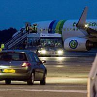 Un avion transavia à Rotterdam. en 2008. (Crédit :AP /Rob Keeris)