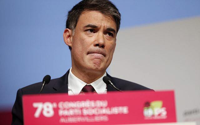 Le secrétaire général du Parti socialiste en avril 2018. (AP Photo/Thibault Camus)
