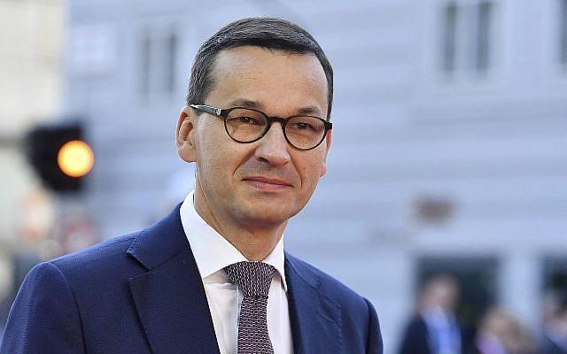 Le Premier ministre polonais Mateusz Morawiecki arrive lors d'un sommet informel de l'UE à Salzburg, en Autriche, le 20 septembre 2018 (Crédit : AP Photo/Kerstin Joensson)