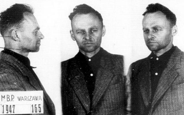 Photographies de Witold Pilecki à la prison de Mokotów en 1947. (Crédit : domaine public)