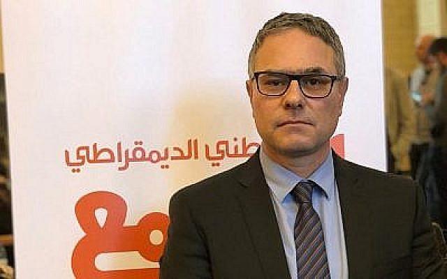 Mtanes Shihadeh, qui a pris la première place sur la liste du parti arabe israélien Balad, le 2 février 2019 (Autorisation : Parti Balad)