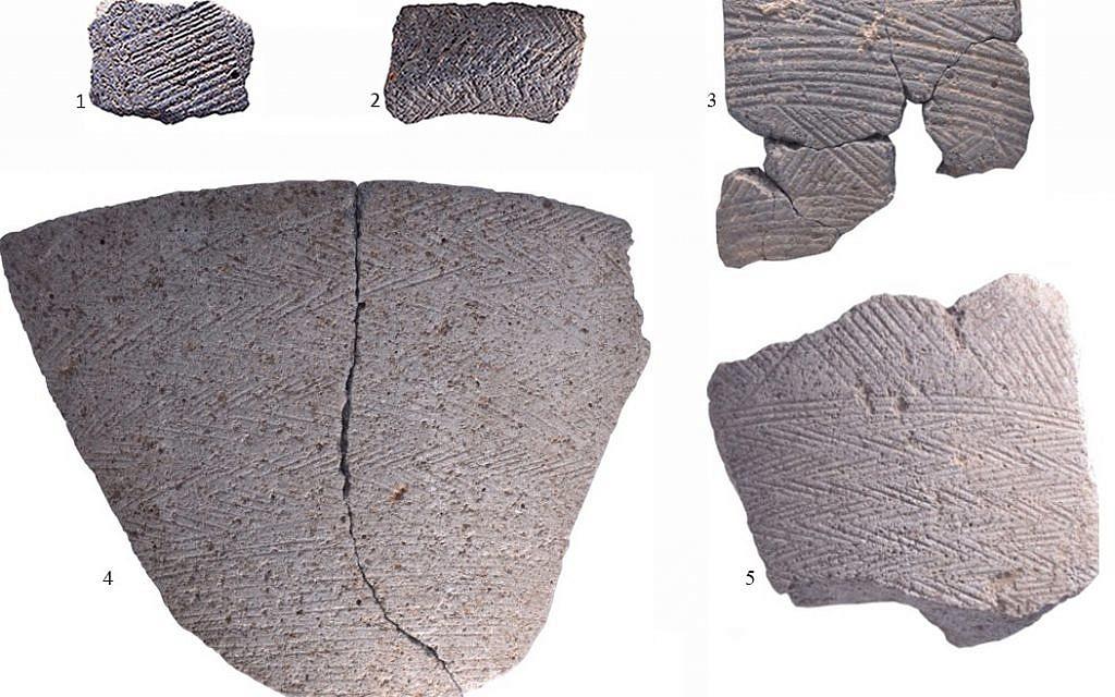 Cn bol original de l'époque du Chalcolithique est un exemple d'objet sur lequel toute la surface est recouverte de triangles (l'équipe de fouille de l'université d'Haïfa).