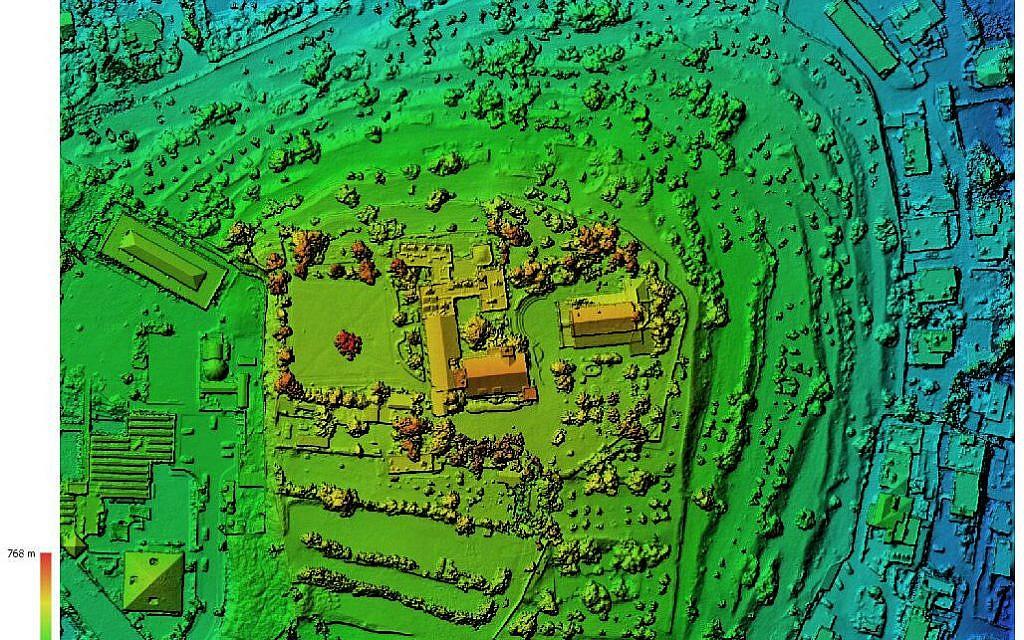 Modèle d'élévation digitale du mont de Kiriath Jearim (Fouilles de la famille Shmunis à Kiriath Jearim).