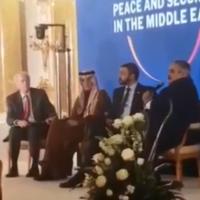 L'ancien négociateur pour la paix au Moyen-Orient Dennis Ross et des responsables arabes durant une réunion au sommet de Varsovie, le 14 février 2019 (Capture d'écran : YouTube)