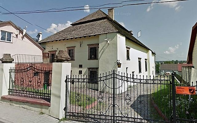 La synagogue de Chęciny (Capture d'écran : Google Maps)