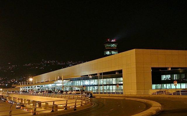 Vue de nuit de l'aéroport International de Beyrouth. (Crédit photo : CC BY-SA 3.0 / Wikipédia)