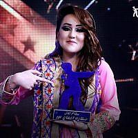 Zahra Elham, lauréate de la 14e saison de la Nouvelle Star en Afghanistan, le 21 mars 2019. (Crédit : Facebook)