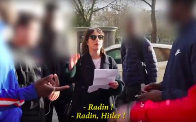"""Capture d'écran de la dernière vidéo de l'humoriste Marie S'infiltre, «Le fantasme """"juif""""». (Crédit photo : YouTube/Marie S'infiltre)"""