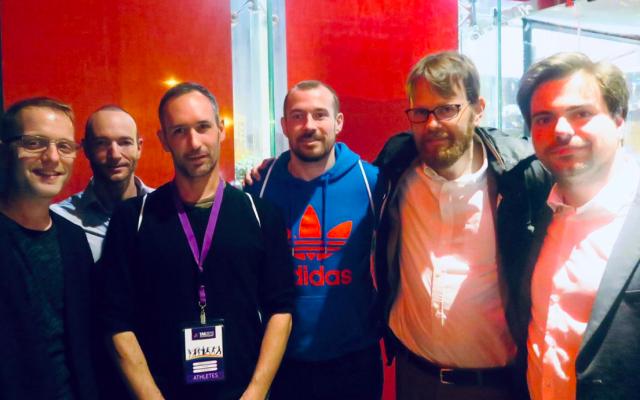 La délégation française participant aux Tel Aviv LGBT Games 2019. (Crédit photo : Twitter / Ambassade de France en Israël)