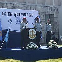 Le chef d'Etat-major Aviv Kohavi lors d'une cérémonie dans le centre d'Israël, le 11 mars 2019 (Crédit : Armée israélienne)