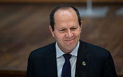 Le candidat Likud à la Knesset et ancien maire de Jérusalem Nir Barkat. (Yonatan Sindel/Flash90)