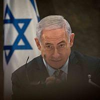 Le Premier ministre  Benjamin Netanyahu à Jérusalem, le 20 mars 2019 (Crédit : Noam Revkin Fenton/Flash90)