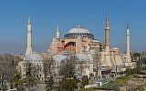 La basilique Sainte-Sophie, à Istanbul. (Crédit : Arild Vågen/CC BY-SA 3.0)