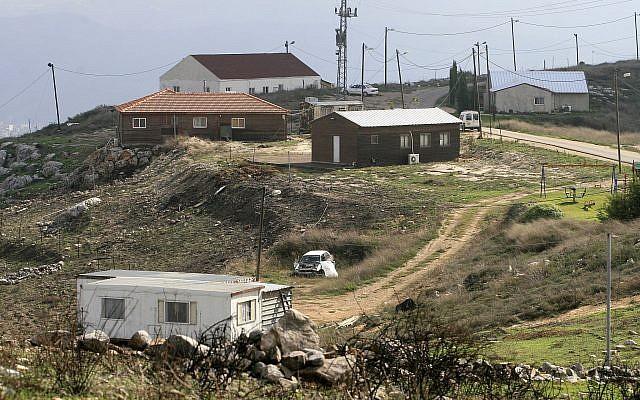 L'avant-poste de Lehava Yitzar dans le nord de la Cisjordanie, le 15 novembre 2015 (Crédit : Olivier Fitoussi /Flash90)
