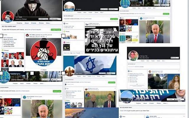 Des infox apparues sur la page Facebook de Karine Nahon, responsable de l'Israel Internet Association. (Crédit : Facebook)