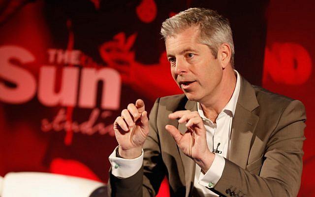 Justin Webb, lors de la Semaine de Publicité Europe à la Maison centrale de l'image à Londres, le 18 avril 2016. (Tristan Fewings/Getty Images pour la Semaine de Publicité Europe /JTA)