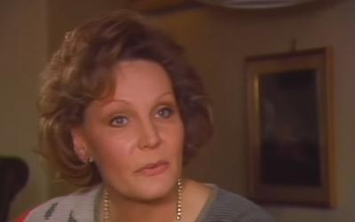 Edda Goering lors d'une interview télévisée en 1986. (Crédit : capture écran)