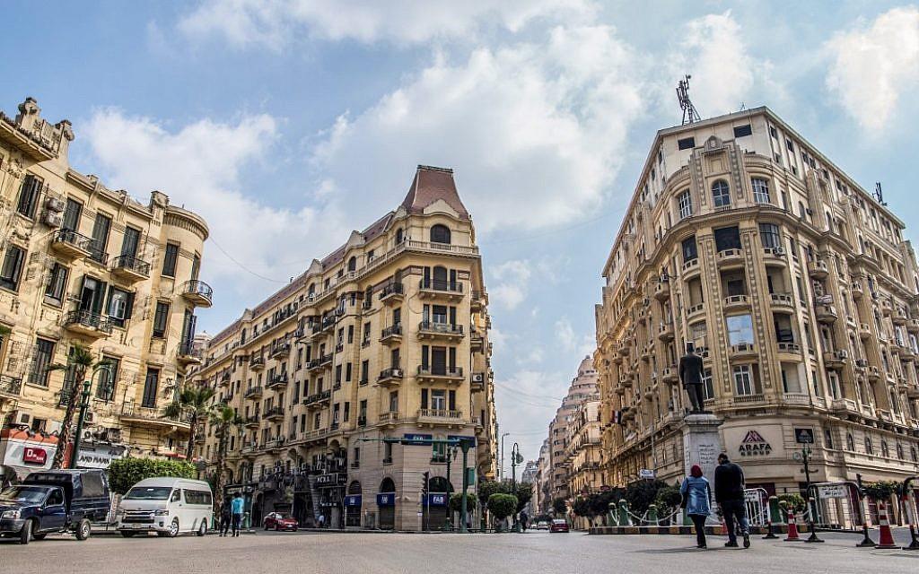 Le quartier européen du Caire, le 8 mars 2019. (Crédit : Khaled DESOUKI / AFP)