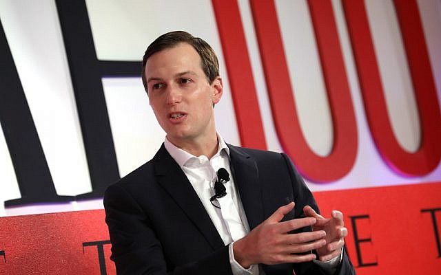 NEW YORK, NEW YORK - Jared Kushner lors d'un débat organisé pendant le Sommet 2019 du Magazine Time à New York,  le 23 avril 2019 (Crédit :   Brian Ach/Getty Images for TIME/AFP)