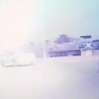 Image d'une vidéo de la course poursuite publiée par la police (Crédit : police israélienne).