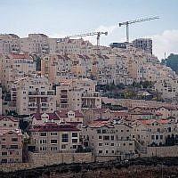 Vue de maisons dans l'implantation d'Efrat, le 27 novembre 2018. (Gershon Elinson/Flash90)