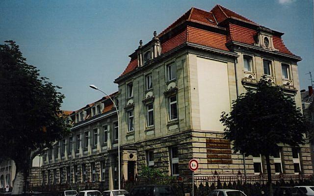 Les locaux de l'Institut d'études politiques de Strasbourg, au sein de l'Ensemble Saint Georges, avenue de la Forêt noire (1988-2019). (Crédit photo : Domaine public)