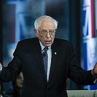 Le sénateur du Vermont Bernie Sanders participe à un événement organisé par Fox News, le lundi 15 avril 2019 à Bethléem en  Pennsylvanie . (AP/Matt Rourke)